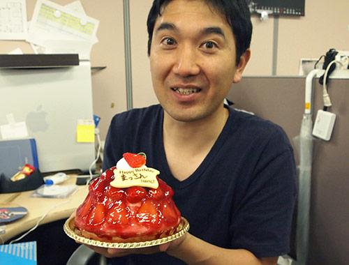 松浦とストロベリーケーキ