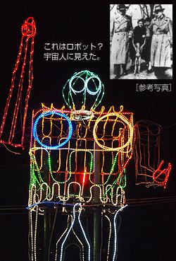 ロボットの電飾
